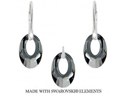 Set Helios Swarovski Elements Silver Night