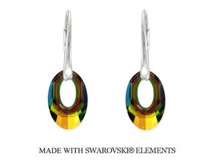 Náušnice Helios Swarovski Elements Crystal VM