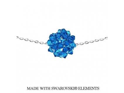 Náhrdelník s modrou guličkou Swarovski Elements