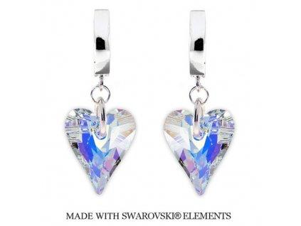 Náušnice s kryštálmi Swarovski Elements WILD HEART AB 17 mm