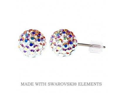 SWAROVSKI-nausnice-duhove-gulicky-napichovacky-puzety-discoball