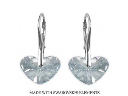 Náušnice srdiečka Swarovski Elements Crystal 17 mm