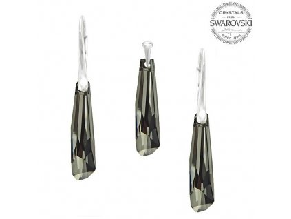 Set s kryštálmi Swarovski®Crystals Crystalactite Silver Night