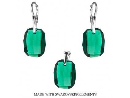 Set s kryštálmi Swarovski® Graphic Emerald 19 mm