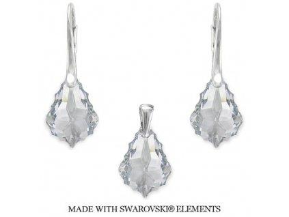 Set s kryštálmi Swarovski Elements Baroque Crystal 22 mm