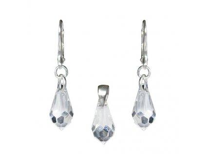 Set Teardrop s kryštálmi Swarovski® Crystal