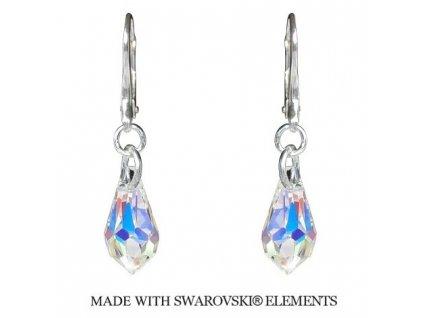 Náušnice Teardrop s kryštálmi Swarovski Elements AB