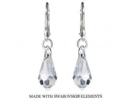 Náušnice Teardrop s kryštálmi Swarovski Elements Crystal