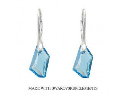 Náušnice DE-ART s kryštálmi Swarovski Elements Aquamarine