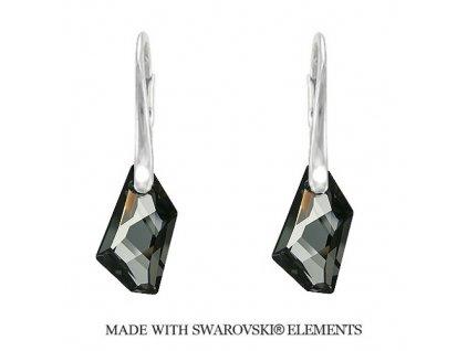 Náušnice DE-ART s kryštálmi Swarovski Elements Silver Night