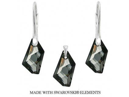 Strieborný set DE-ART s kryštálmi Swarovski® Silver Night