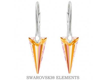 žlté Swarovski náušnice Swarovski® špic Spike Astral Pink