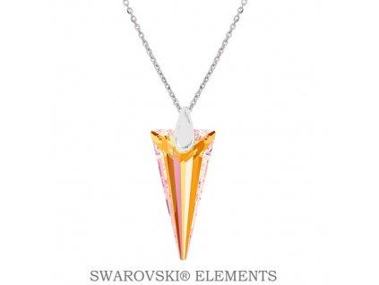 Náhrdelník s kryštálom SPIKE Swarovski® Astral Pink 18 mm