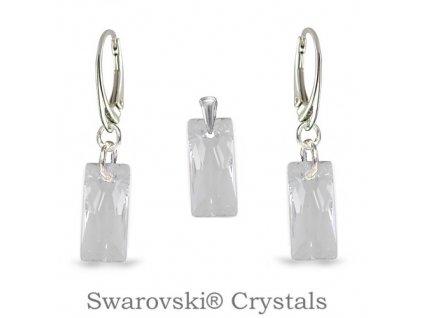 biely set swarovski baguete crystal