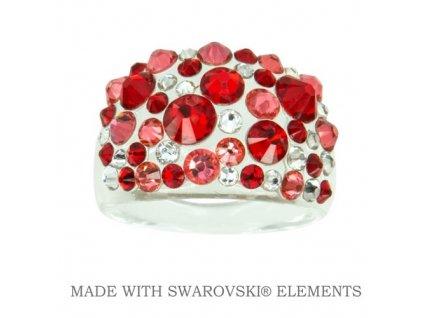 SWAROVSKI-prsten-cerveny-damsky-light-siam-plastovy