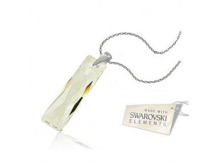 Náhrdelník Naneth s kryštálom Swarovski® Baguette Crystal 38 mm