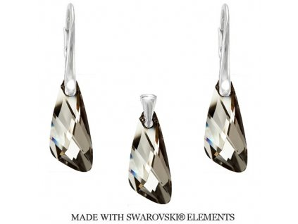 Set Naneth s kryštálmi Swarovski®Crystals Wing Silver Night
