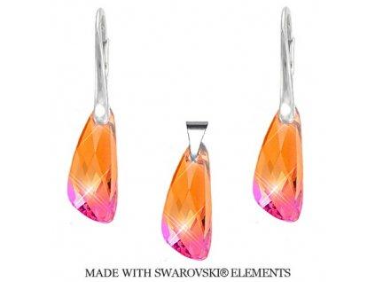 Set Naneth s kryštálmi Swarovski®Crystals Wing Astral Pink
