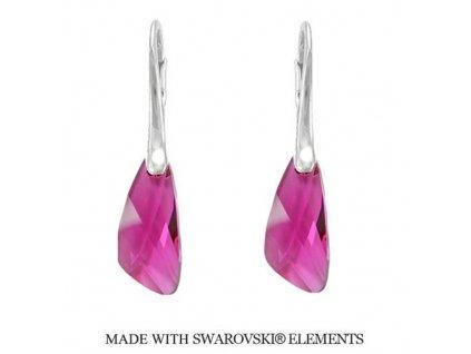 Náušnice Naneth s kryštálmi Swarovski®Crystals Wing Fuchsia