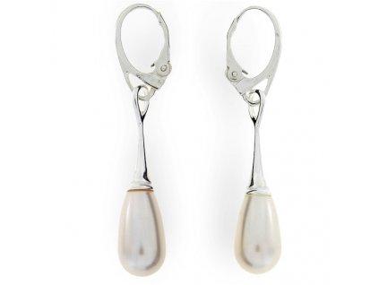 Visiace náušnice s perlami Swarovski® Pearl Drop