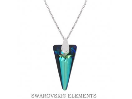 Náhrdelník s kryštálom SPIKE Swarovski® modrý Bermuda Blue 18 mm