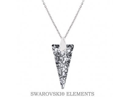 Náhrdelník s kryštálom SPIKE Swarovski® Black Patina 18 mm