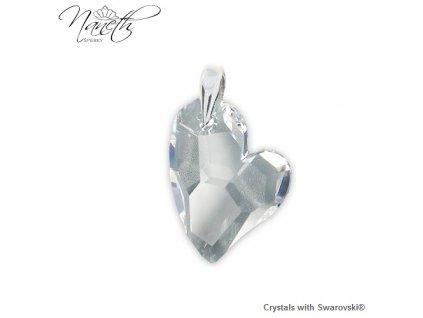 Prívesok srdce Naneth s kryštálom Swarovski DEVOTED2U Crystal 27 mm