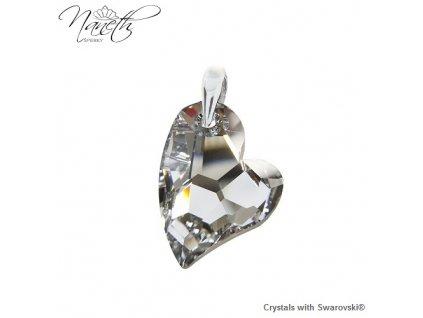 Prívesok srdce Naneth s kryštálom Swarovski DEVOTED2U CAL V 27 mm