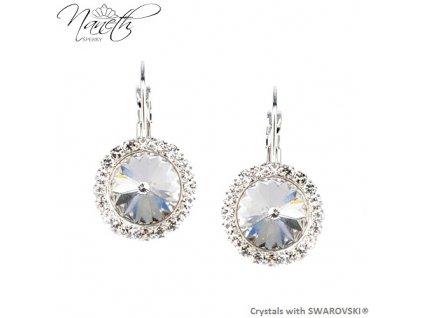 Štrasové náušnice NANETH s kryštálmi Swarovski Crystals Crystal