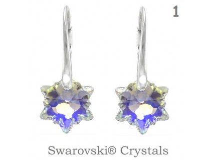 Náušnice s kryštálmi Swarovski Elements EDELWEISS AB