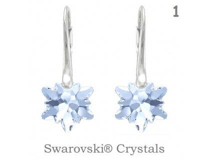 Náušnice s kryštálmi Swarovski Elements EDELWEISS Blue Shade