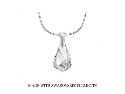 Náhrdelník Swarovski Elements Helix Crystal 18 mm