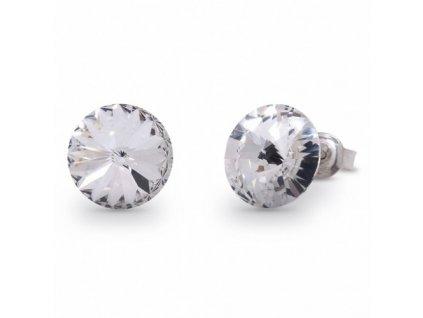 Puzetové náušnice Swarovski Elements Rivoli Crystal