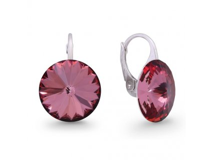 Náušnice Swarovski Elements Rivoli Anique Pink 14 mm