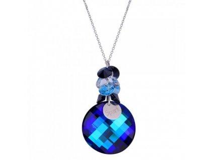 Náhrdelník Luna Dives Bermuda Blue s kryštálmi Swarovski Elements