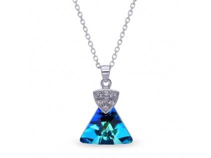 Náhrdelník Triangolo Swarovski Elements Bermuda Blue