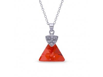 Náhrdelník Triangolo Swarovski Elements Red Magma