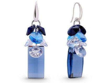 Náušnice Neka Dives s kryštálmi Swarovski Elements Denim Blue
