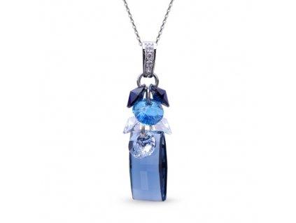 Náhrdelník Neka Dives s kryštálmi Swarovski Elements Denim Blue