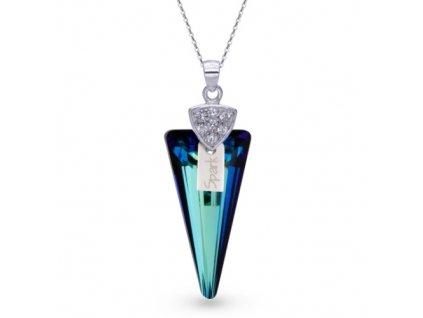 exkluzívny modrý Swarovski náhrdelník