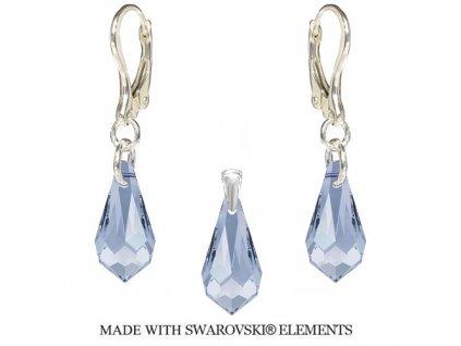 Set Teardrop s kryštálmi Swarovski Elements Blue Shade