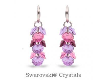 Náušnice Dives s kryštálmi Swarovski® Color