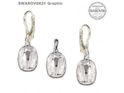 Set s kryštálmi Swarovski®Crystals GRAPHIC Crystal