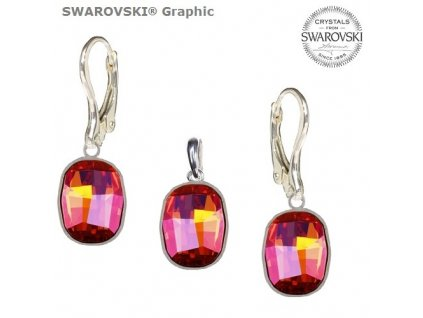 Set s kryštálmi Swarovski®Crystals GRAPHIC Astral Pink