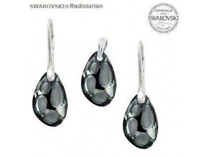 Set s kryštálmi RADIOLARIAN Swarovski®Crystals Silver Night