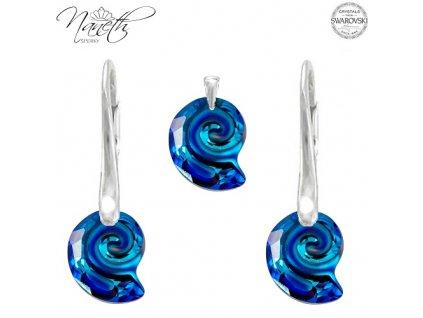 Set Naneth s kryštálmi Swarovski Crystals Sea Sail Bermuda Blue