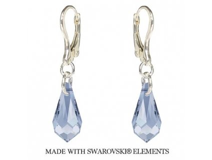 Náušnice Teardrop s kryštálmi Swarovski Elements Blue Shade