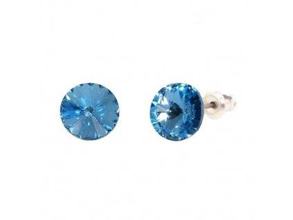 Náušnice Naneth s kryštálmi Rivoli Swarovski Crystals Aquamarine 8 mm