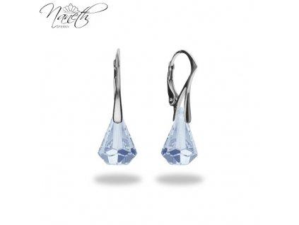 Náušnice Naneth s kryštálmi Swarovski®Crystals Xirius Blue Shade 14 mm