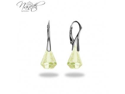 Náušnice Naneth s kryštálmi Swarovski®Crystals Xirius Luminous Green 14 mm